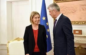 Minhen:  Hašim Tači i Federika Mogerini razgovarali o Kosovu i Balkanu