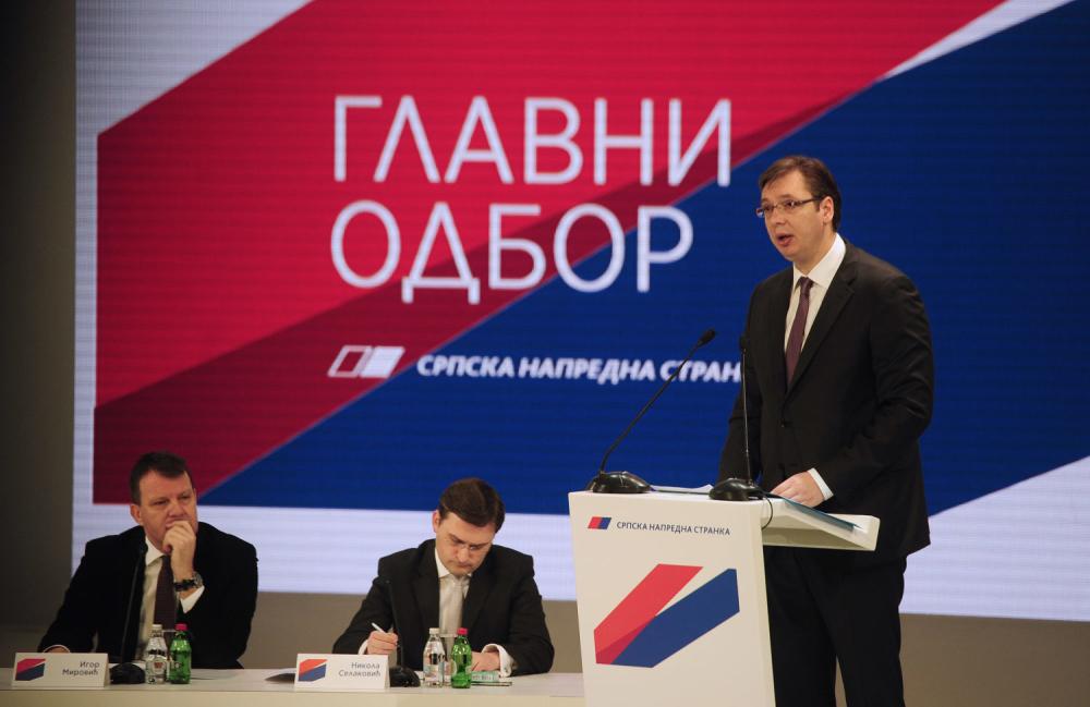 Glavni odbor SNS odlučio: Vučić za predsednika – zbog Srbije!