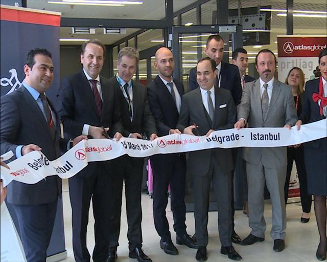 """Beograd: Sleteo prvi avion turske avio kompanije """"AtlasGlobal"""""""