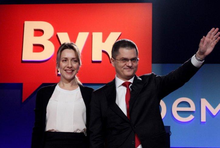 Konferencija za medije Nataše Jeremić povodom klevete Milenka Jovanova potpredsednika SNS da diluje drogu