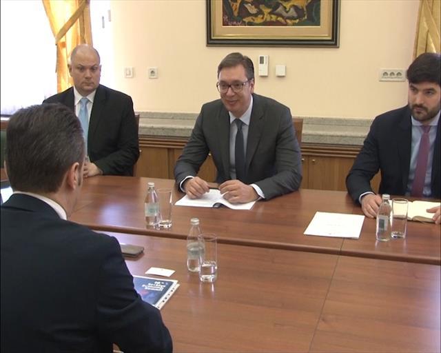 """Vučić primio direktora nemačke kompanije""""Grammer AG"""" za Srbiju"""