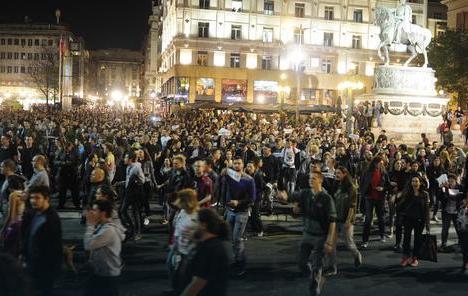 "Beograd, Novi Sad, Niš ""Protest protiv diktature""."