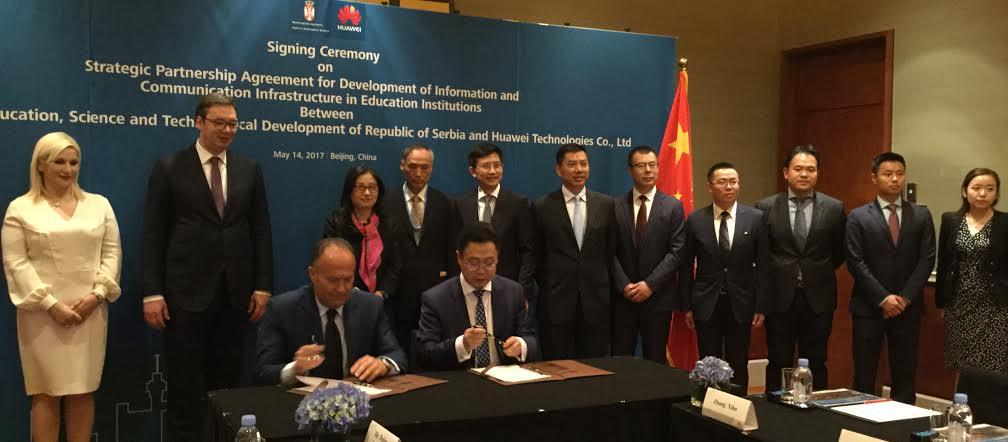 Peking: Šarčević potpisao sporazum o strateškom partnerstvu sa kompanijom Huawei