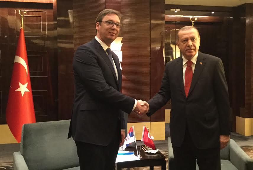 Peking: Vučić razgovarao sa Erdoganom