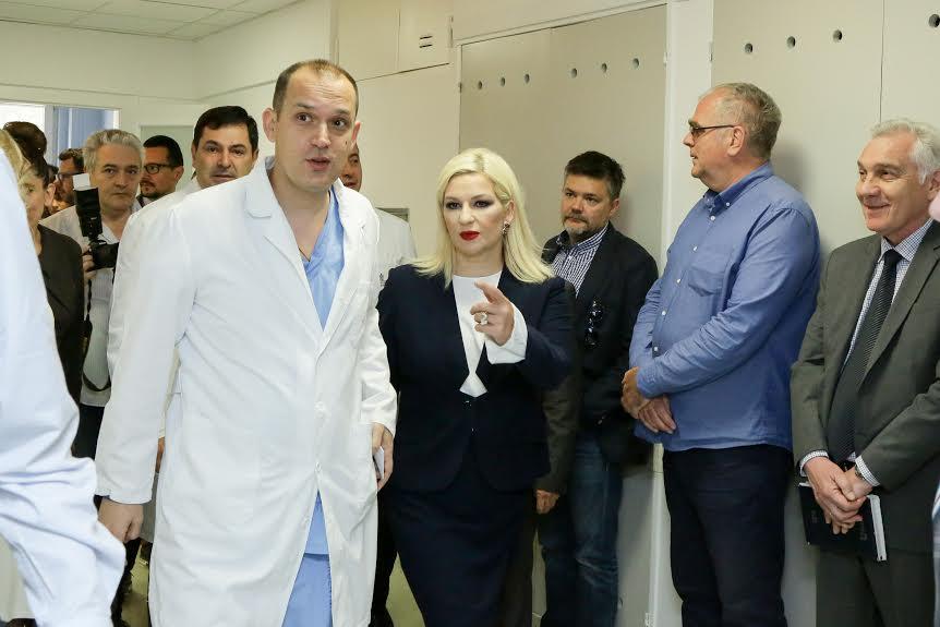Zorana Mihajlović obišla nove operacione sale KCS