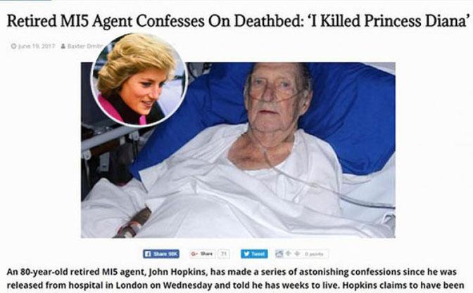 Priznanje agenta MI5: ubio sam princezu Dianu