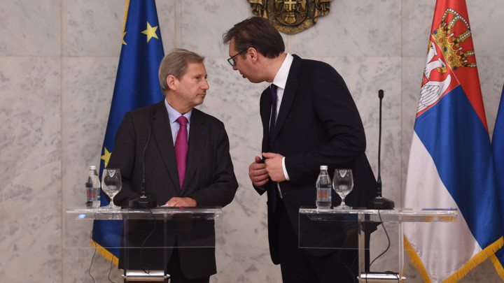 Konferencija za medije Vučića i Hana: Srbija važna za Evropu koliko i Evropa za Srbiju
