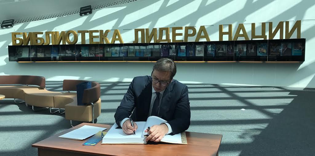 Vučić u Kazahstanu: posetio pogone namenske industrije