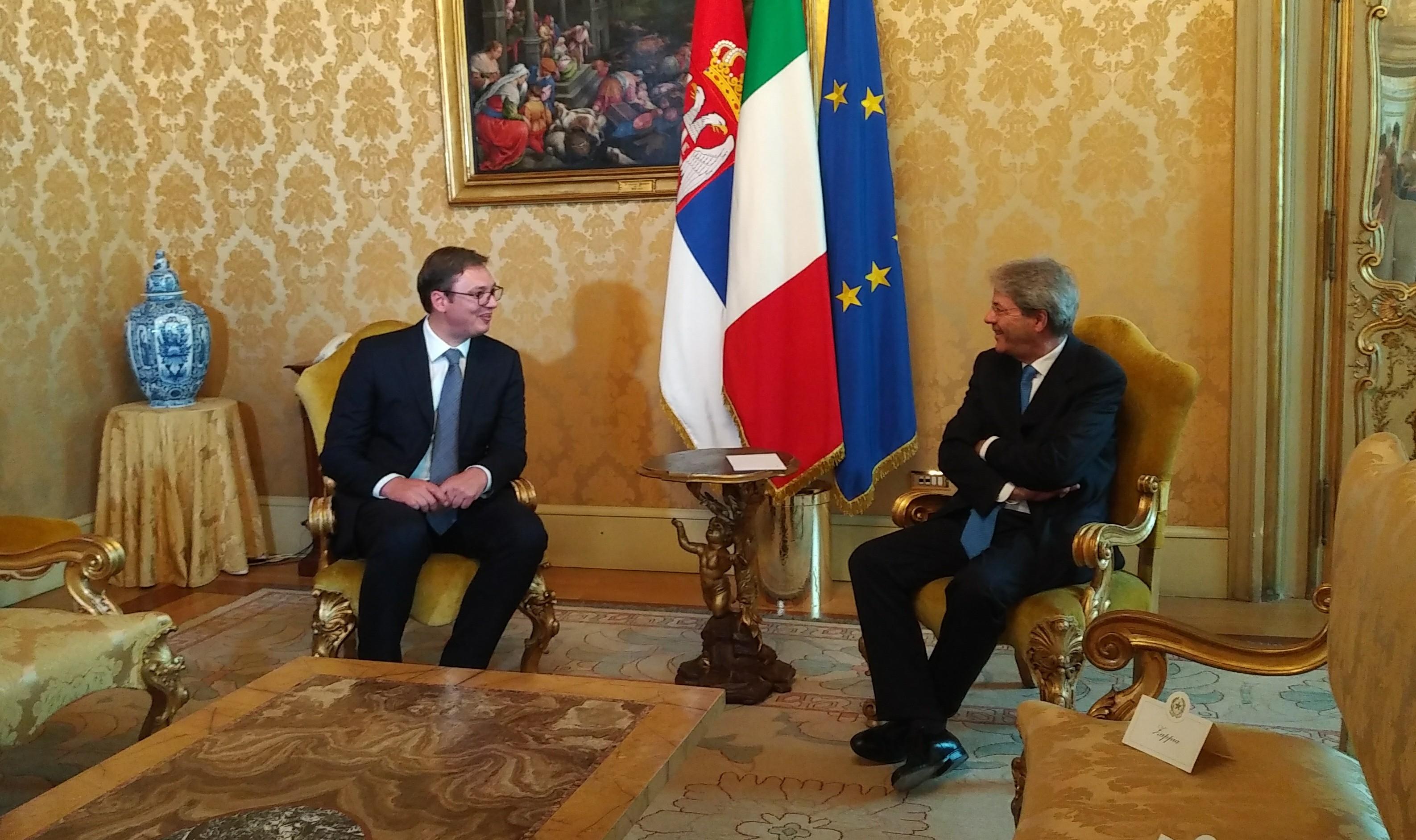 Vučić boravi u jednodnevnoj poseti Italiji