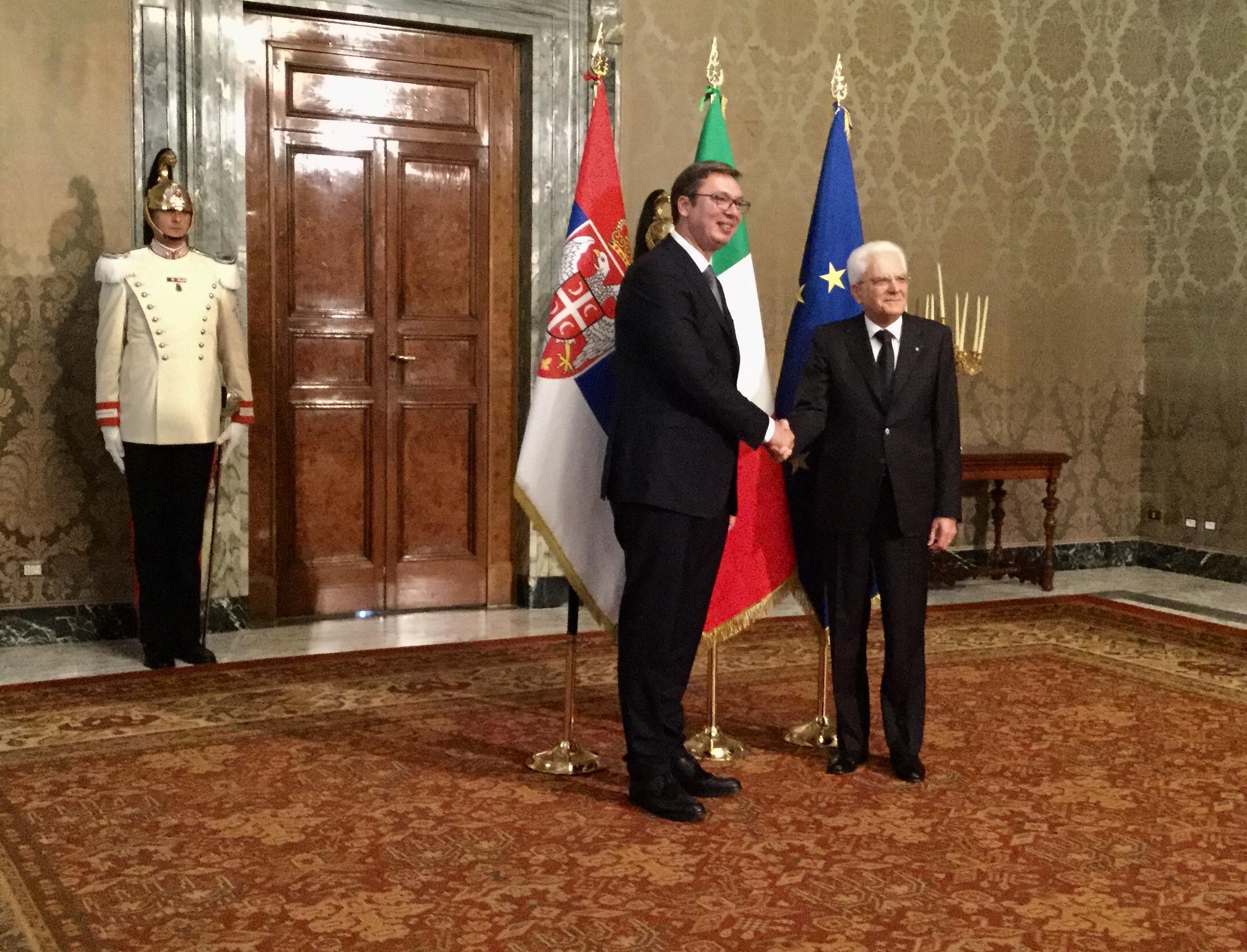 Rim: Vučić sa Matarelom
