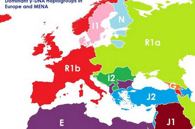 Kako bi izgledala Evropa  da se granice temelje na DNK?