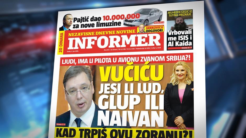 Zorana Mihajlović demantuje pisanje Informera