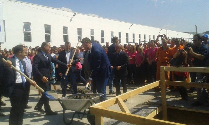 "Vladičin Han: kamen temeljac za izgradnju nove hale ""Teklas automotiv"""