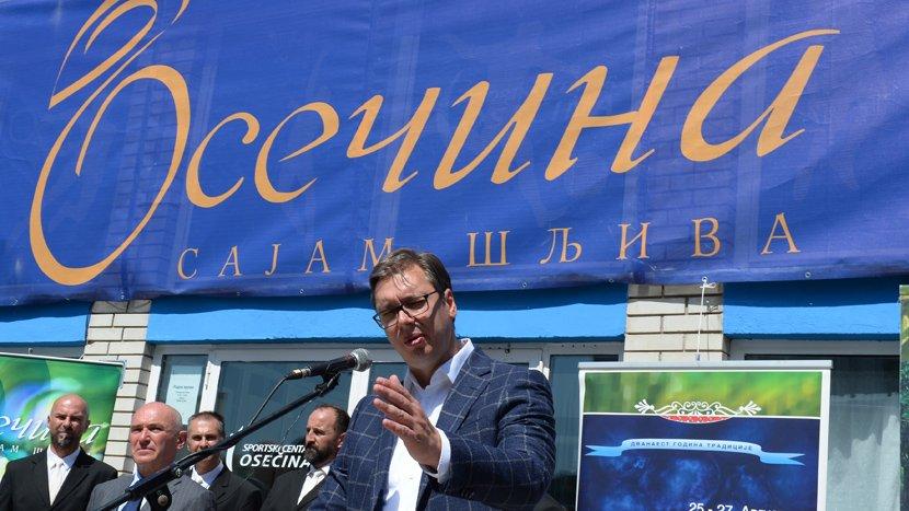 Vučić otvorio Sajam šljiva u Osečini