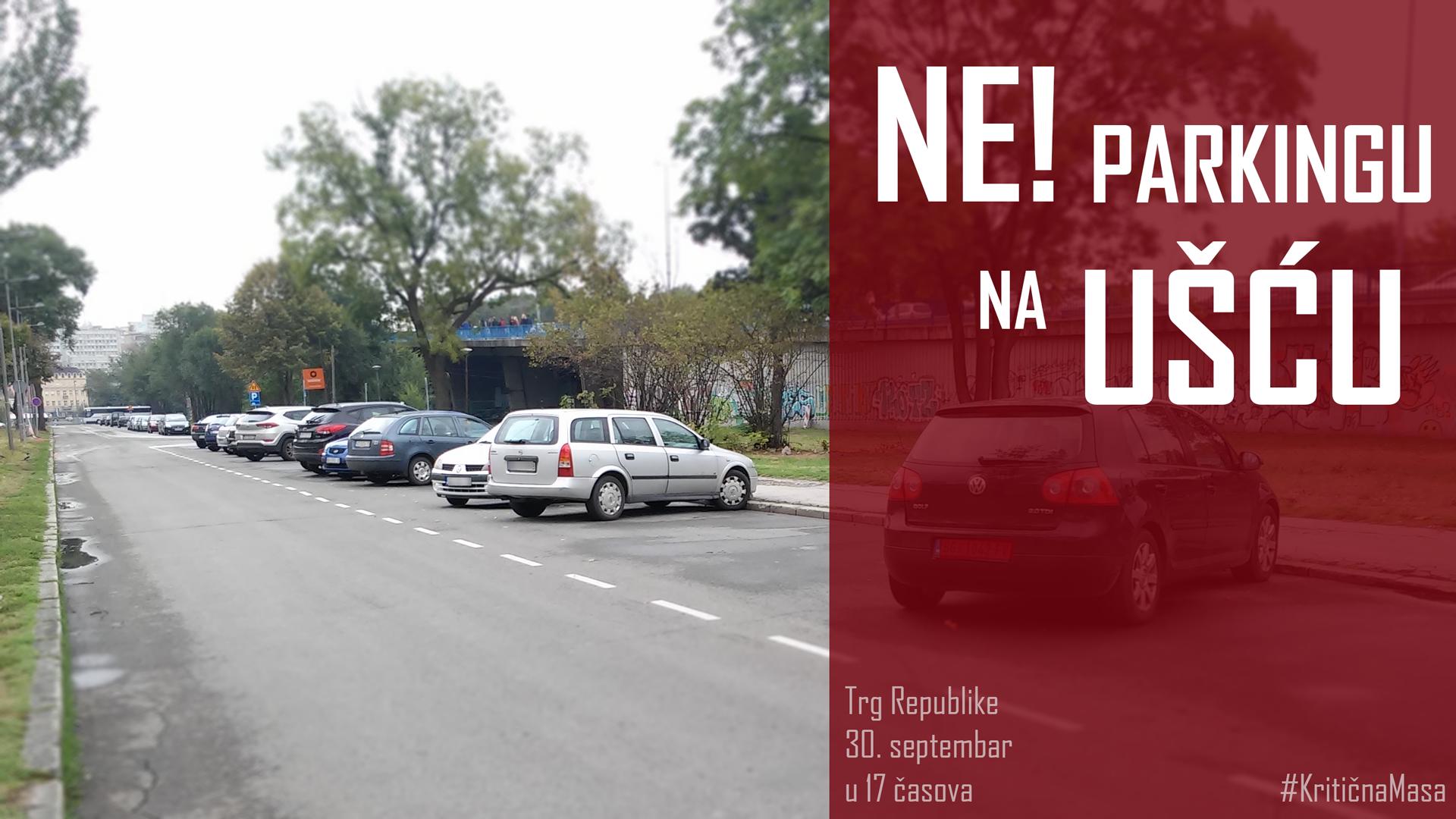 Biciklisti protiv beležavanje novih parkinga pored parka Ušće