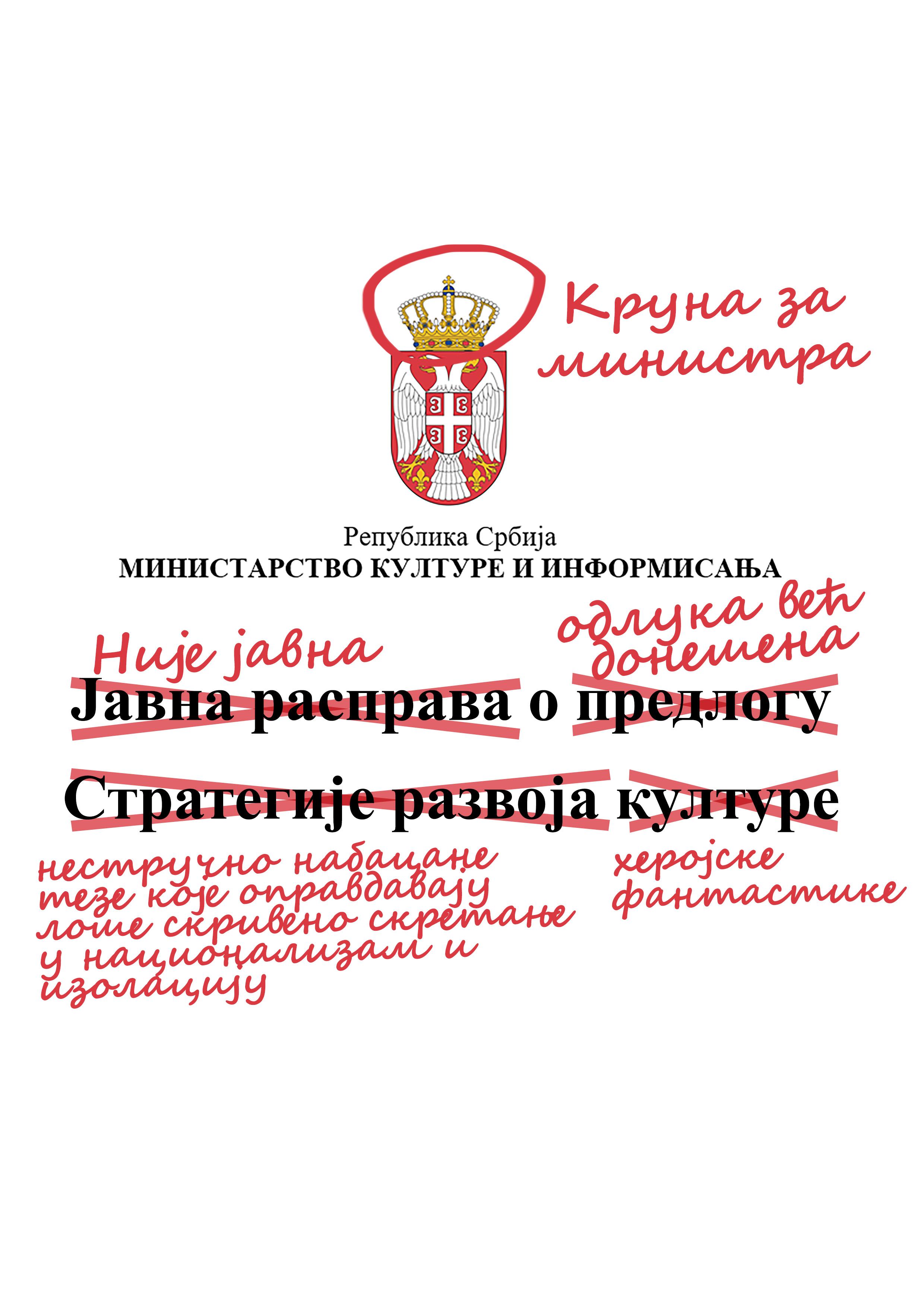 Asocijacija NKSS napustila javnu raspravu o Nacrtu Strategije razvoja kulture Republike Srbije od 2017. do 2027