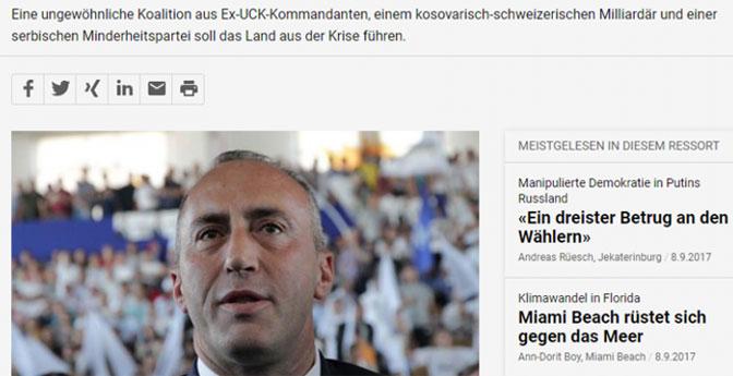 Štampa na nemačkom jeziku: Od problematičnog do prihvatljivog Haradinaja!