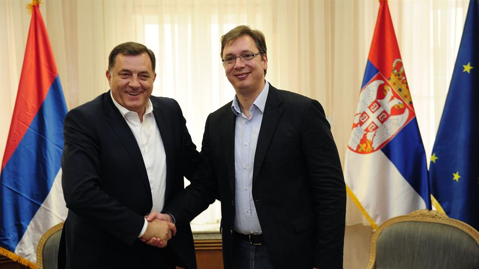 Konferencija za medije Vučića i Dodika: Srpska lista najveća pobeda na KiM