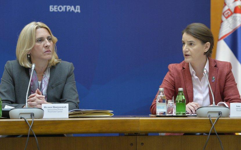 Konferencija za medije predsednica vlada Srbije i RS: ubuduće češće saradnje
