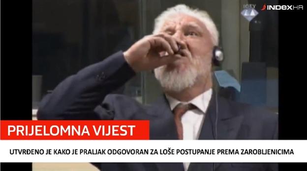 Izricanje presude šestorici lidera Herceg Bosne – Prljak popio ogtrov