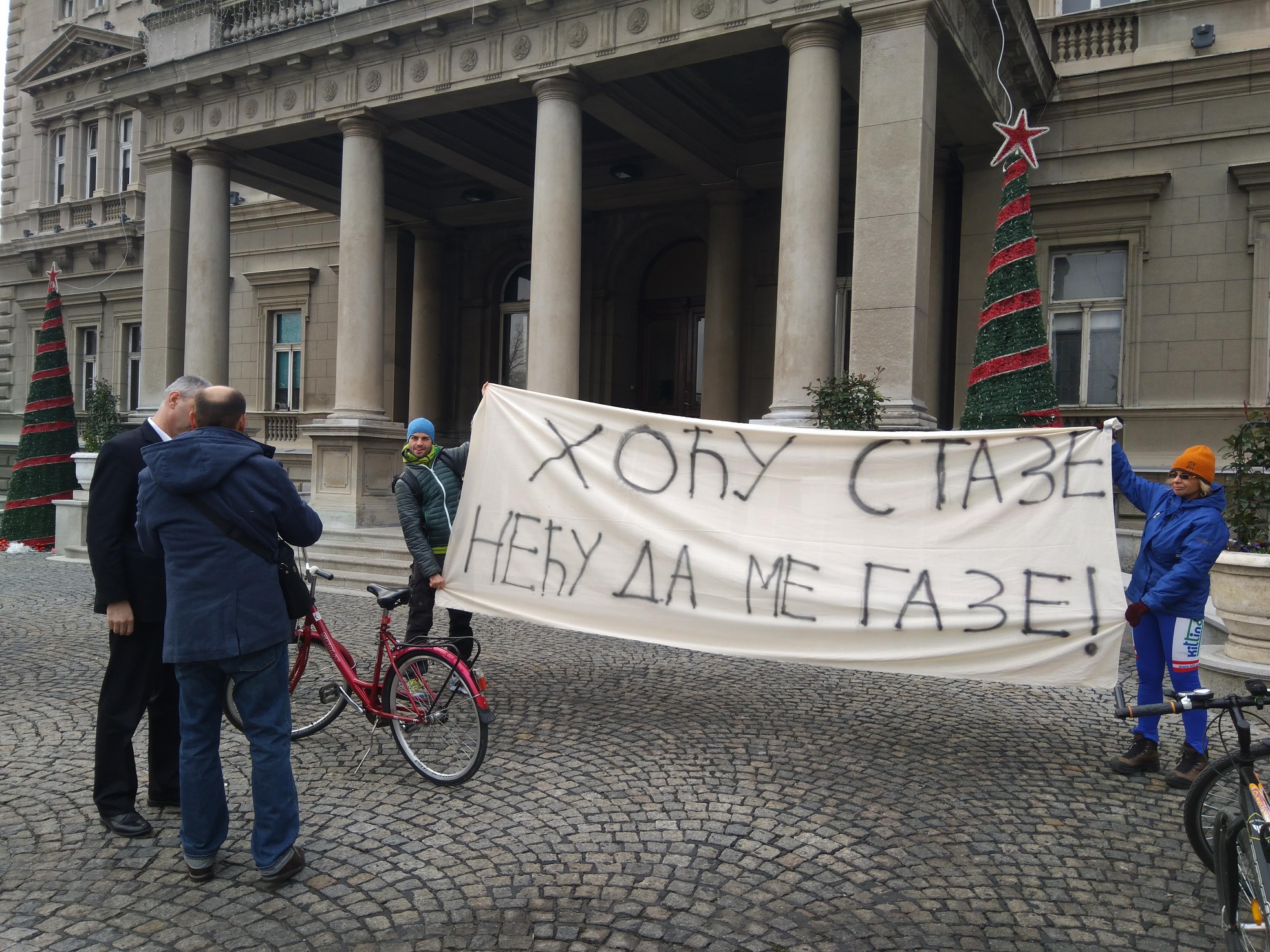 Protest Udruženja beogradskih biciklista