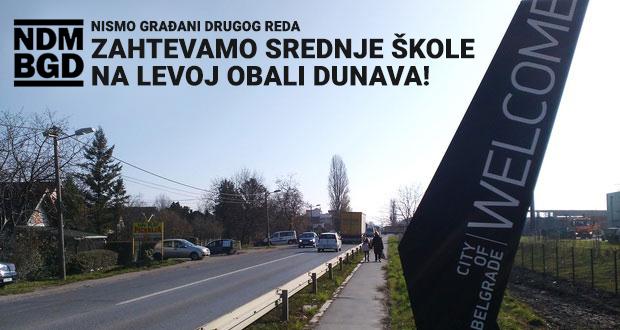 "Inicijativa Ne da(vi)mo Beograd: peticija ""Zahtevamo srednje škole na levoj obali Dunava!"""