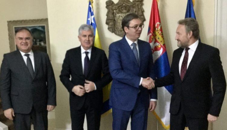 Članovi Predsedništva BiH u Beogradu