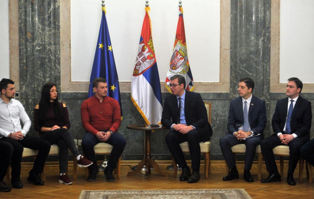 Vučić sa studentima iz KiM: dijalog se nastavlja 26. februara
