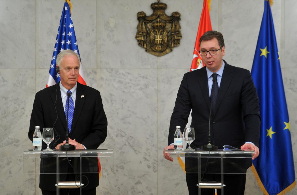 Konferencija za medije Vučića i Džonsona: za kompromis sa Kosovom potrebno je dvoje