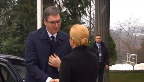 Zagreb: Svečani doček za Aleksandra Vučića na Pantovčaku