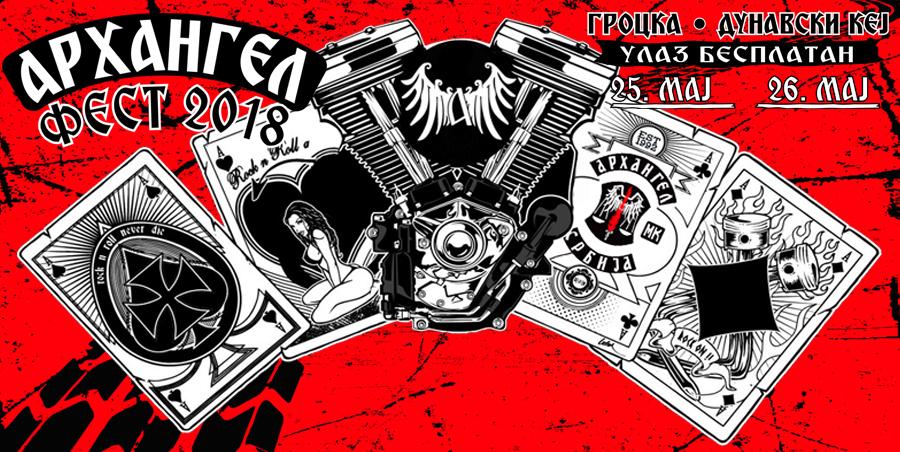 """Praznik za motocikliste: Drugi """"Arhangel Fest"""" 25. i 26.maja na Dunavskom keju u Grockoj!"""