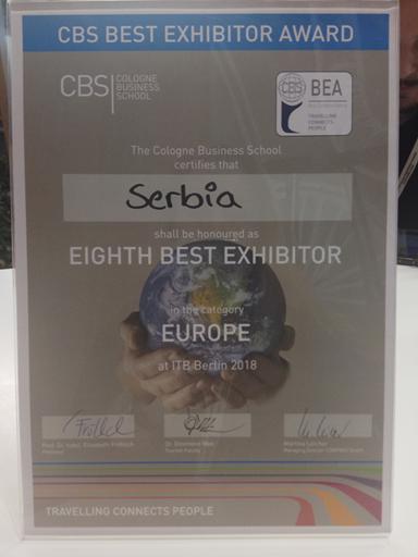 Berlin: Prestižna nagrada srpskom turizmu