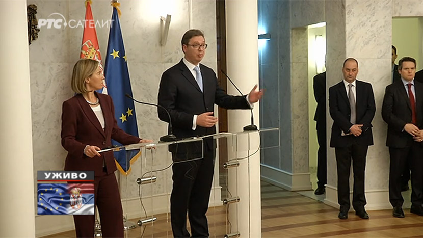 Federika Mogerini razgovarala sa Aleksandrom Vučićem
