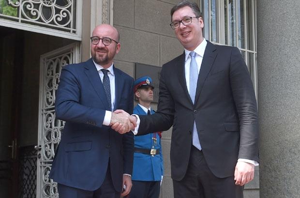 Premijer belgijske vlade  Šarl Mišel ragovarao sa Vučićem i Brnabićevom