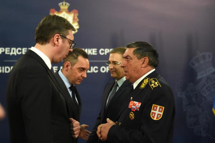Prijem Aleksandra Vučića povodom Dana Vojske Srbije