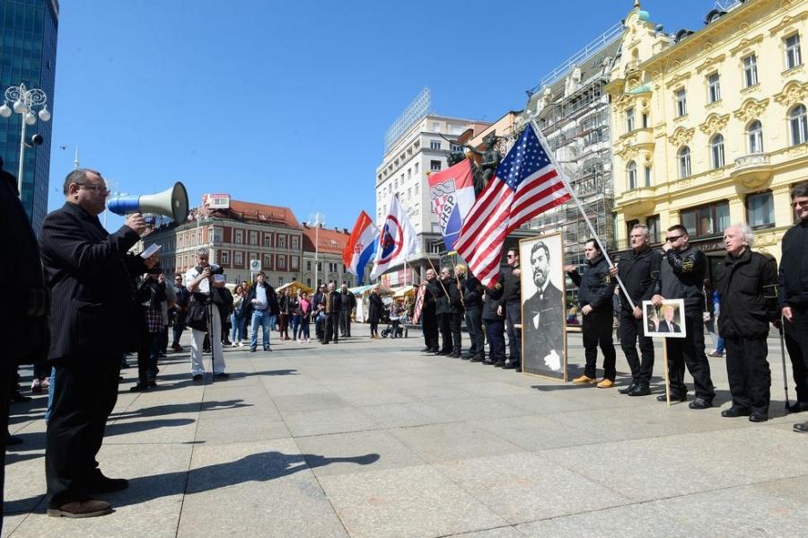 Zagreb: Neonacisti sa Trampovom slikom obeležili Dan NDH