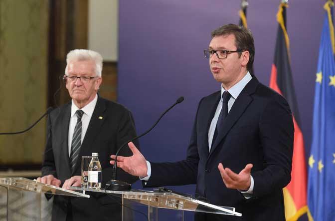 Vučić posle razgovora sa Krečmanom: Nemačka bez Srbije može, a Srbija bez Nemačke teško