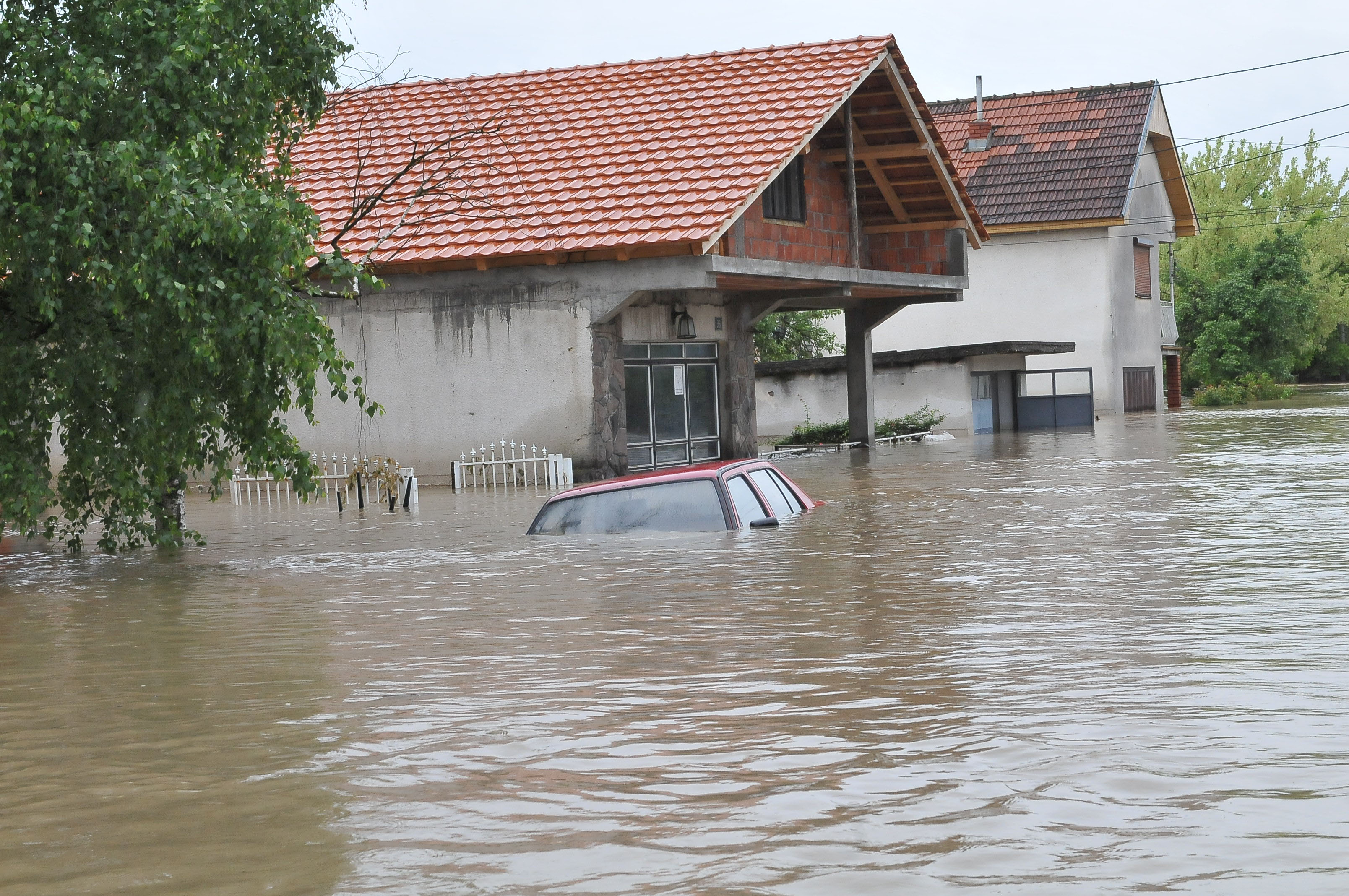 POPLAVE/ Pomoć Crvenog krsta postradalima u Aleksincu i Topoli