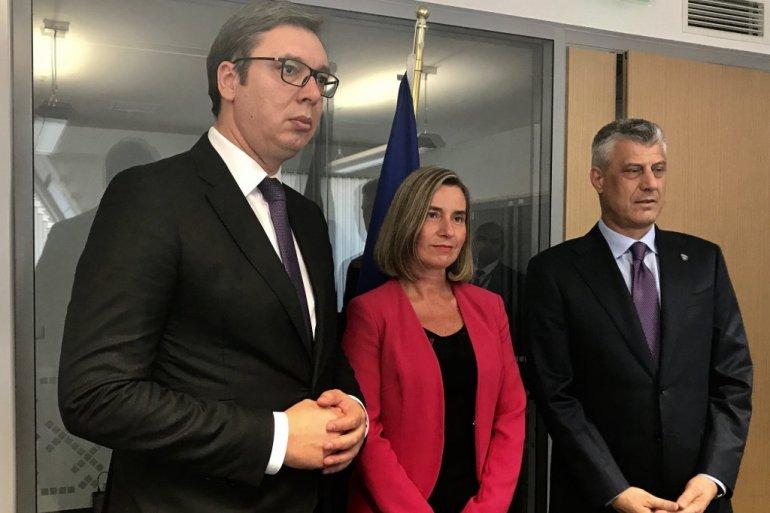 BRISEL/ Danas razgovaraju Mogerinijeva, Vučić i Tači