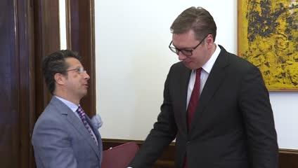 Protokol/Vučić primio Andrea Oricija, šefa OEBS u Srbiji
