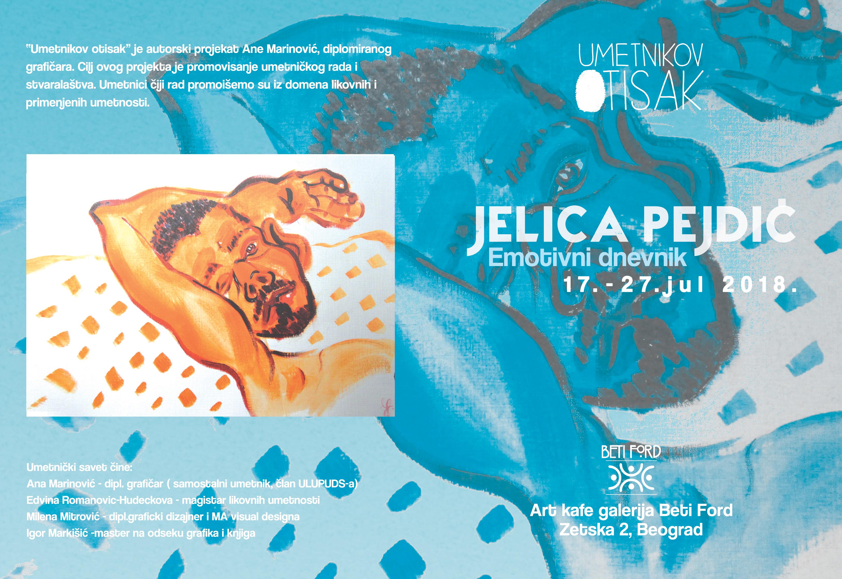 U Art kafe galeriji Beti Ford izlaže Jelica Pejdić