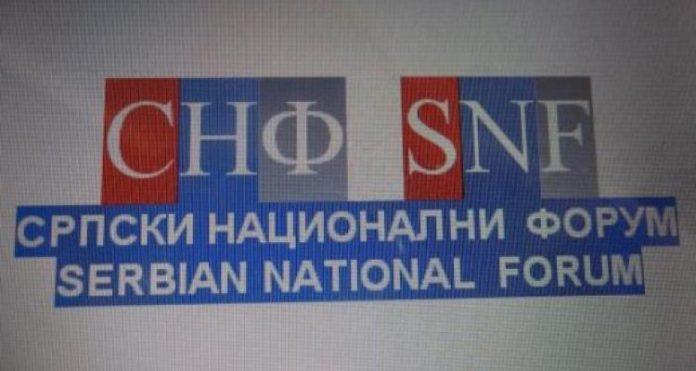 SNF: Srpska lista nema prava da govori u ime srpskog naroda na KiM
