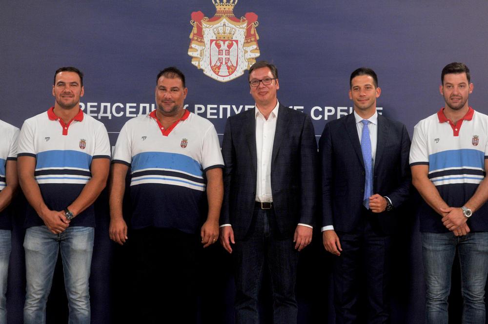 Zlatni vaterpolisti kod Aleksandra Vučića