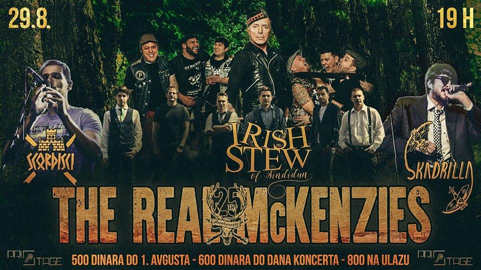 BEOGRAD:Nedelju dana do beogradskog koncerta benda The Real McKenzies
