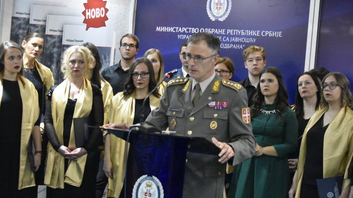 SAJAM KNJIGA: Štand Vojske Srbije otvorio načelnik generalštaba Milan Mojsilović