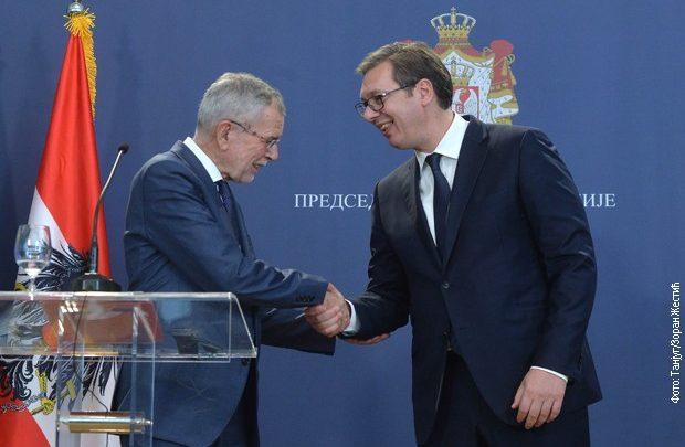 AUSTRIJA – SRBIJA: Konferencija za medije dva predsednika