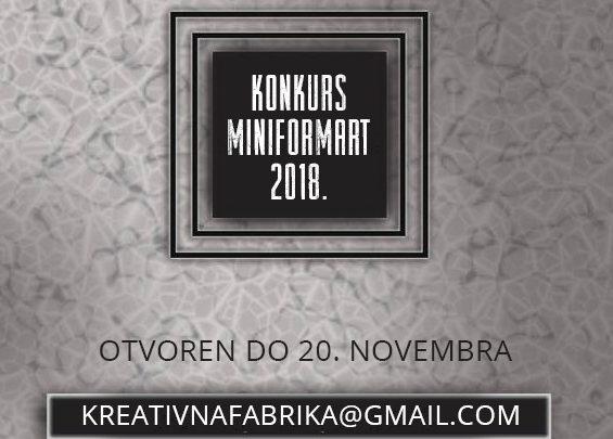 KREATIVNA FABRIKA: Konkurs za kolektivno izlaganje na MiniFORMArt 2018