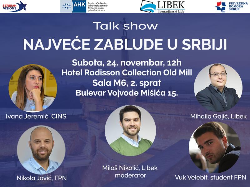 "LIBEK: Predstavljanje publikacije ""Top 10 ekonomskih zabluda u Srbiji"""