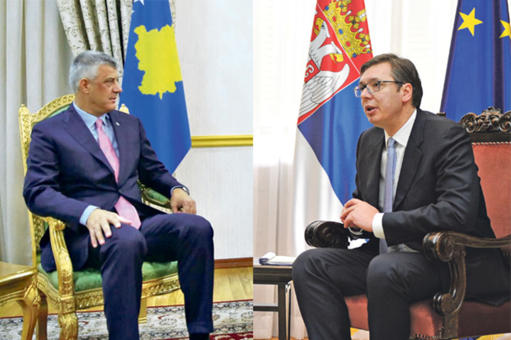 GAZETA EKSPRES: : Tačijev i Vučićev plan podele Kosova na delu
