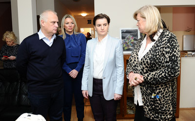 PROTIV NASILJA: Brnabićeva posetila Sigurnu kuću